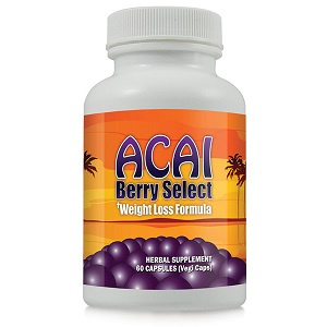 bottle of acai berry select