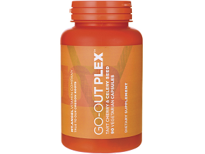 bottle of Mt. Angel Vitamins' Go-Out Plex