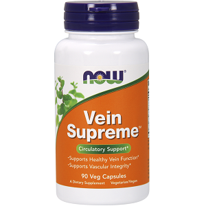 bottle of Now Vein Supreme Veg Capsule