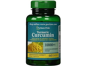 bottle of Puritan's Pride Turmeric Curcumin