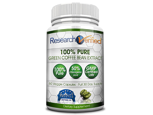 bottle of Research Verified Green Coffee Bean Extract