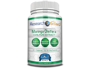 bottle of research verified moringa
