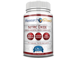 bottle of Research Verified Nitric Oxide