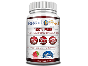 bottle of Research Verified Raspberry Ketone