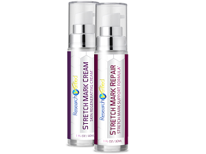 bottle of research verified stretch mark repair
