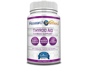 bottle of Research Verified Thyroid Aid