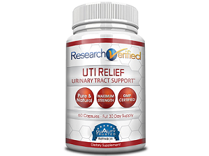 bottle of research verified uti relief
