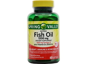 bottle of Spring Valley Fish Oil