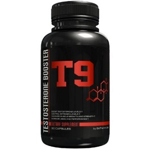 bottle of t9 testosterone booster