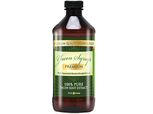 bottle of Yacon Syrup Premium