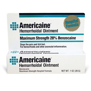 box of Americaine Hemorrhoidal Ointment