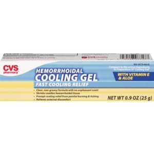 box of CVS Hemorrhoidal Cooling Gel with Vitamin E