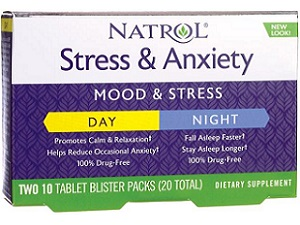 box of Natrol Stress And Anxiety Day And Night