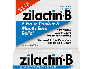 box of Zilactin-B Canker and Mouth Sore Relief